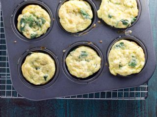 Healthy Make-Ahead Breakfast Recipe: Muffin Tin Frittatas with Spinach, Feta and Quinoa