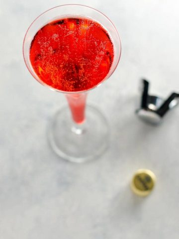 Mom's Italian Soda- A Campari and Prosecco Cocktail- 780 | Umami Girl