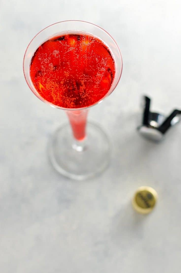 Mom's Italian Soda: A Campari and Prosecco Cocktail
