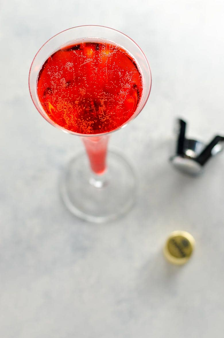 Mom's Italian Soda- A Campari and Prosecco Cocktail- 780 | Umami Girl