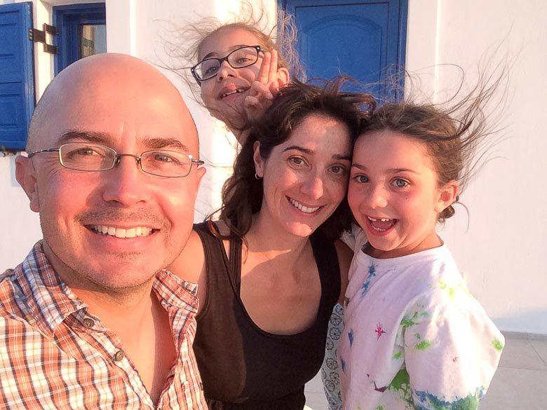 Oia Santorini Greece Cope Family Holiday Card 780 | Umami Girl