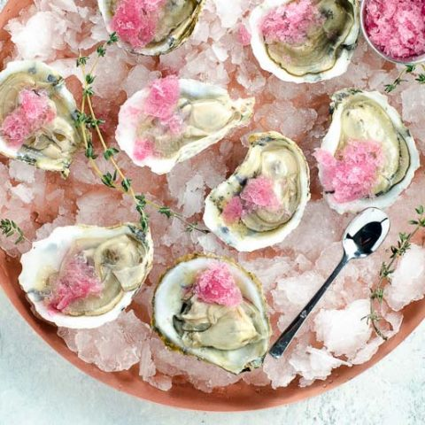 Oysters with Mignonette Granita