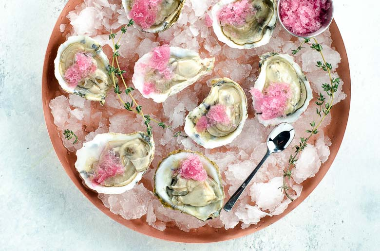 Oysters with Mignonette Granita 780 | Umami Girl