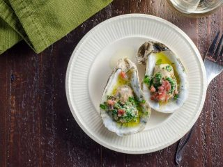 Party-Ready Oysters Recipe with Herbed Butter and Prosciutto