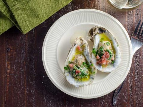 Party-Ready Oysters Recipe with Herbed Butter and Prosciutto- 780   Umami Girl