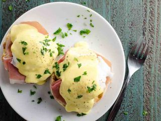 Prosciutto Eggs Benedict with Blender Hollandaise