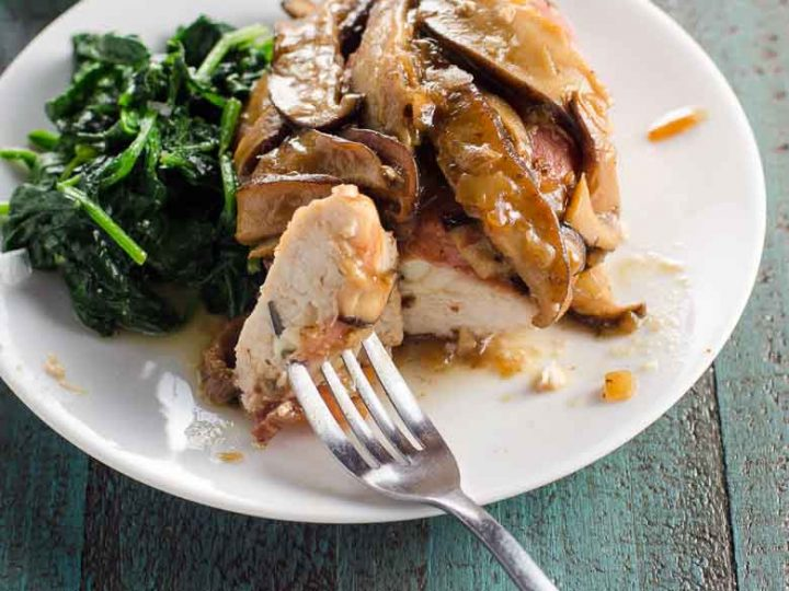 Prosciutto-Wrapped Chicken with Mushrooms and Marsala Sauce