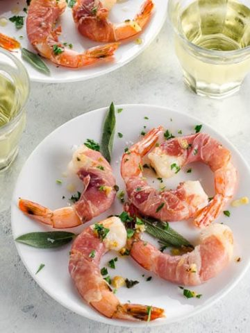 Prosciutto-Wrapped Shrimp with Sage-Garlic Butter- 780 | Umami Girl