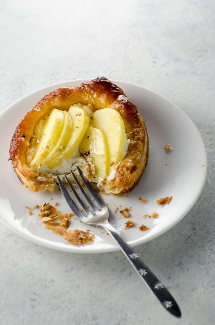 Puff Pastry Apple Tart with Goat Cheese and Honey