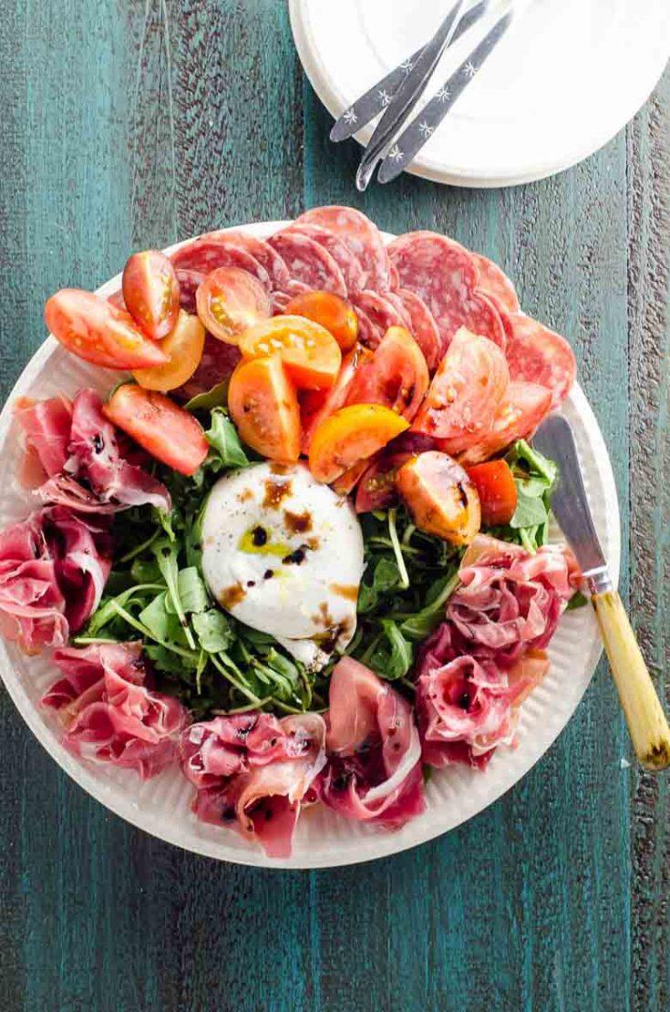 Quick Appetizer Idea: A Gorgeous Burrata Platter