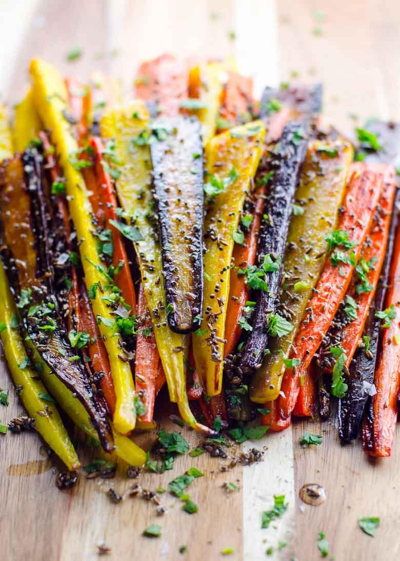 -Rainbow Roasted Carrots with Mustard and Cumin Seeds 780 | Umami Girl