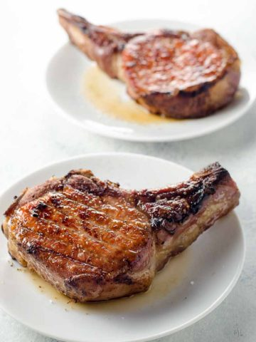 Reverse Seared Pork Chops with Quick Shallot Herb Pan Sauce 780 | Umami Girl