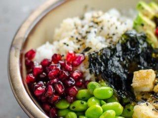 Roxane's 20 Minute Vegan Sushi Bowls