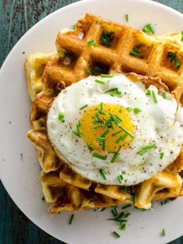Savory Waffles with Cheddar and Chives 780 | Umami Girl-2