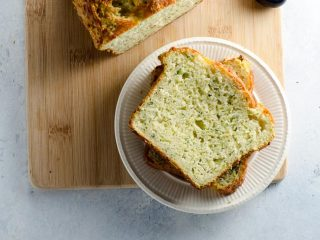 Savory Zucchini Bread with Cheddar and Herbs