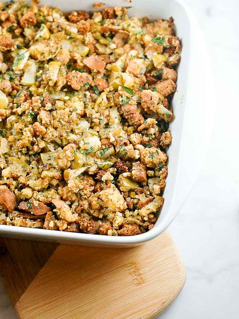 Silver Palate Cornbread Stuffing Vegetarian Adaptation Umami Girl Final 780 | Umami Girl