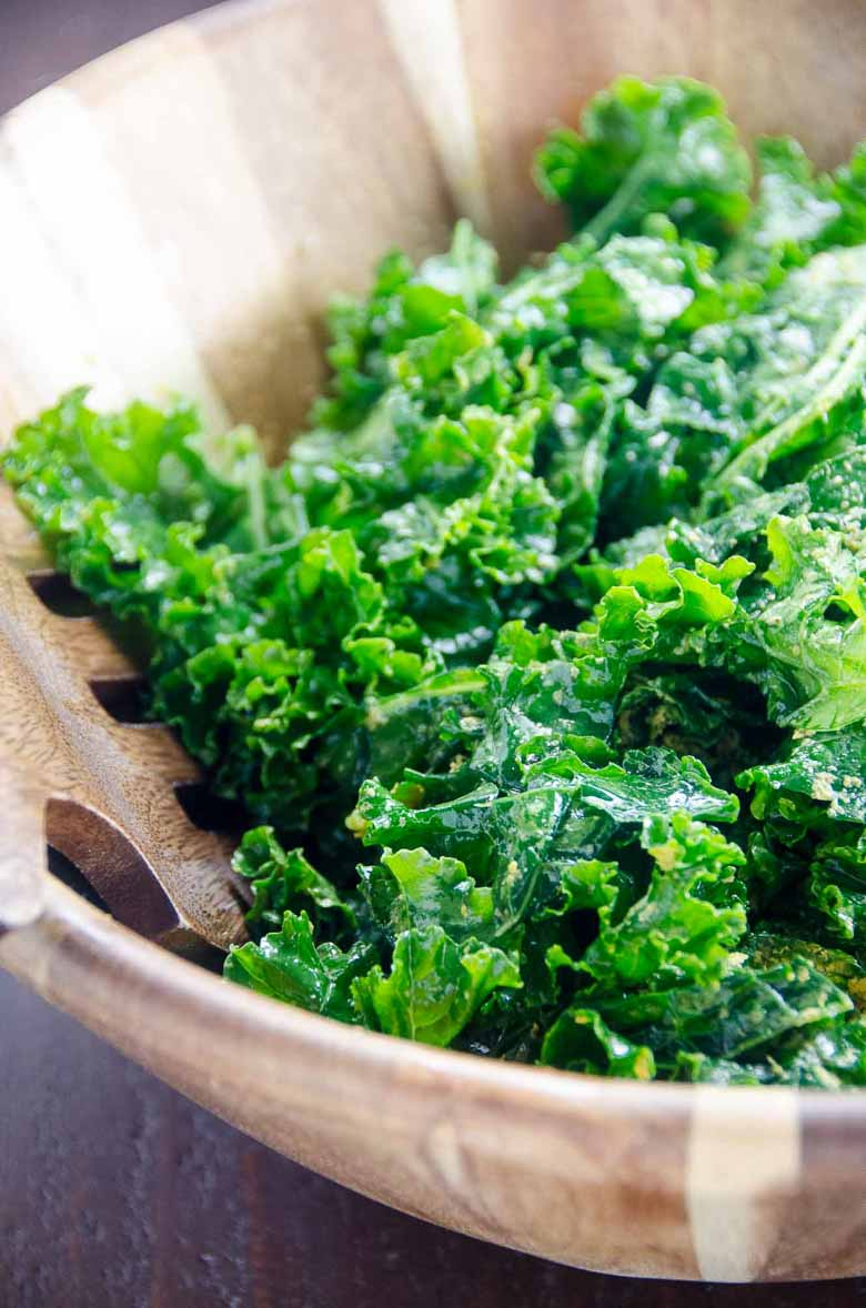 Simple Massaged Kale Salad Recipe 780 | Umami Girl