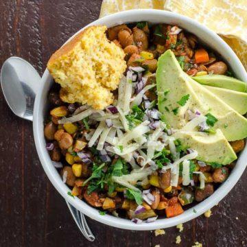 Smoky Vegetarian Chili with Pinto Beans and Corn- 780 | Umami Girl-2