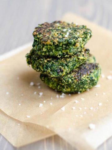 Spinach Fava Bean Quinoa Cakes 780 _ Umami Girl