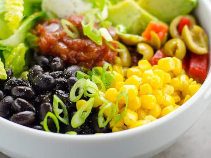 5 Minute Black Bean Taco Bowl Recipe 780 | Umami Girl