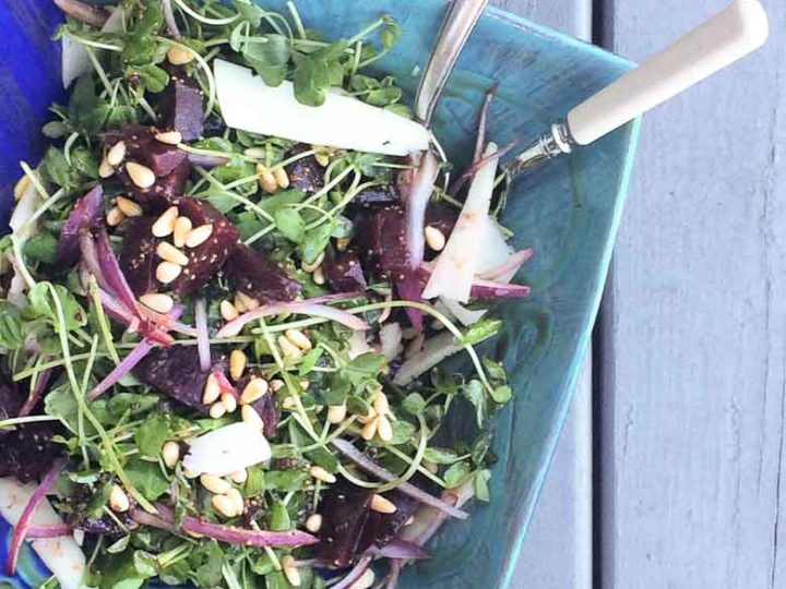 Toronto Farmers' Market Pea Shoots Salad 780 | Umami Girl