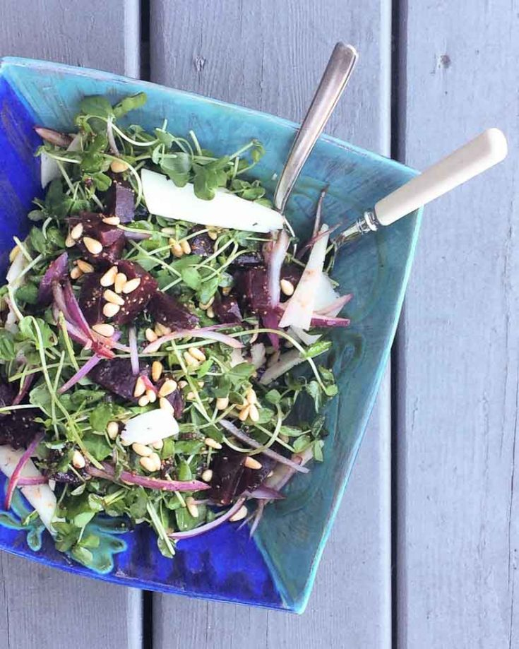 Toronto Farmers' Market Pea Shoots Salad