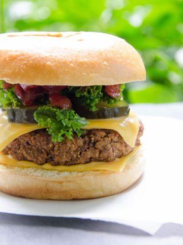 Vegan Burger Recipe with Sweet Potato and Lentils 780 | Umami Girl