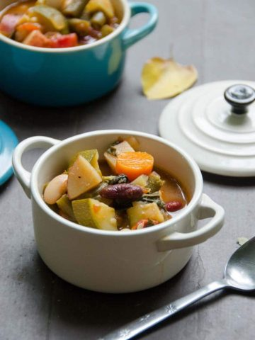 Vegetarian Minestrone Soup Recipe for a Crowd 780 | Umami Girl-2