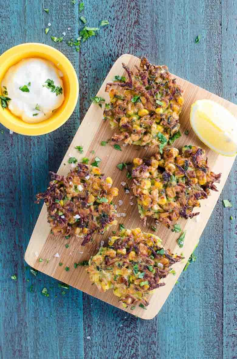 Zucchini Corn Fritters Recipe 780 | Umami Girl-2