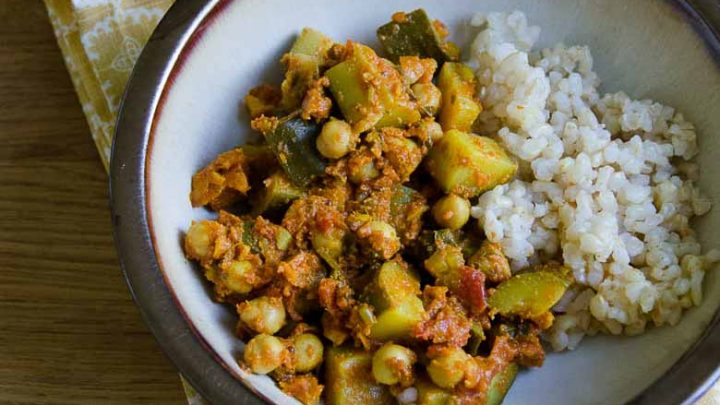 considered comfort zucchini and chickpea curry umami girl