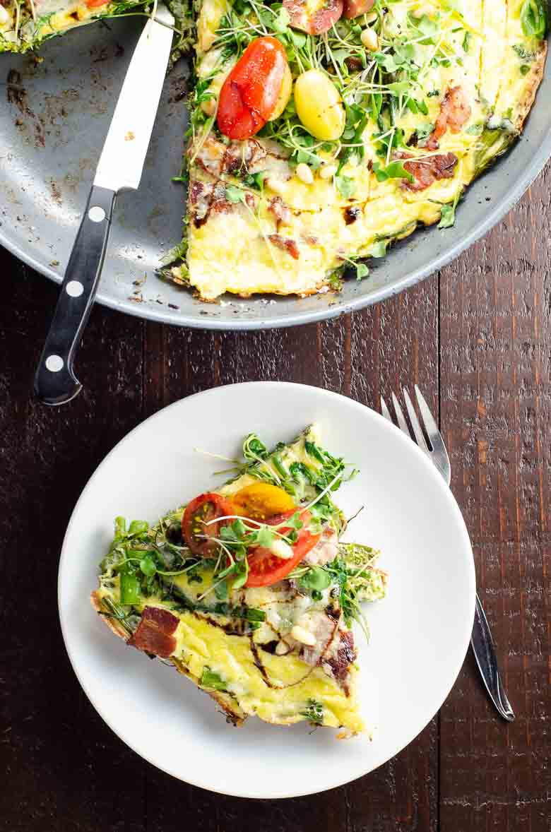 Broccolini Cheddar Bacon Frittata 780 | Umami Girl
