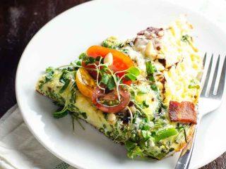 Broccolini Cheddar Bacon Frittata