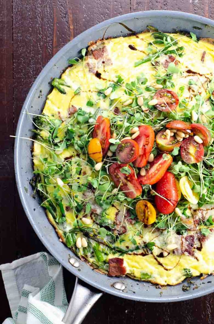 Broccolini Cheddar Bacon Frittata (+ How to Jazz Up a Frittata in 30 Seconds)