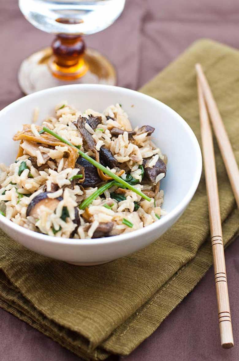 Brown Rice Recipes Mixed Mushrooms Spinach 780 _ Umami Girl