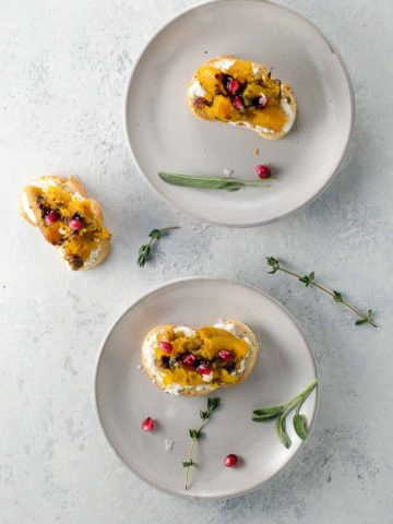Butternut Squash Bruschetta with Sage and Pomegranate 780 | Umami Girl-2