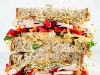 Epic Veggie Sandwich with White Bean Spread