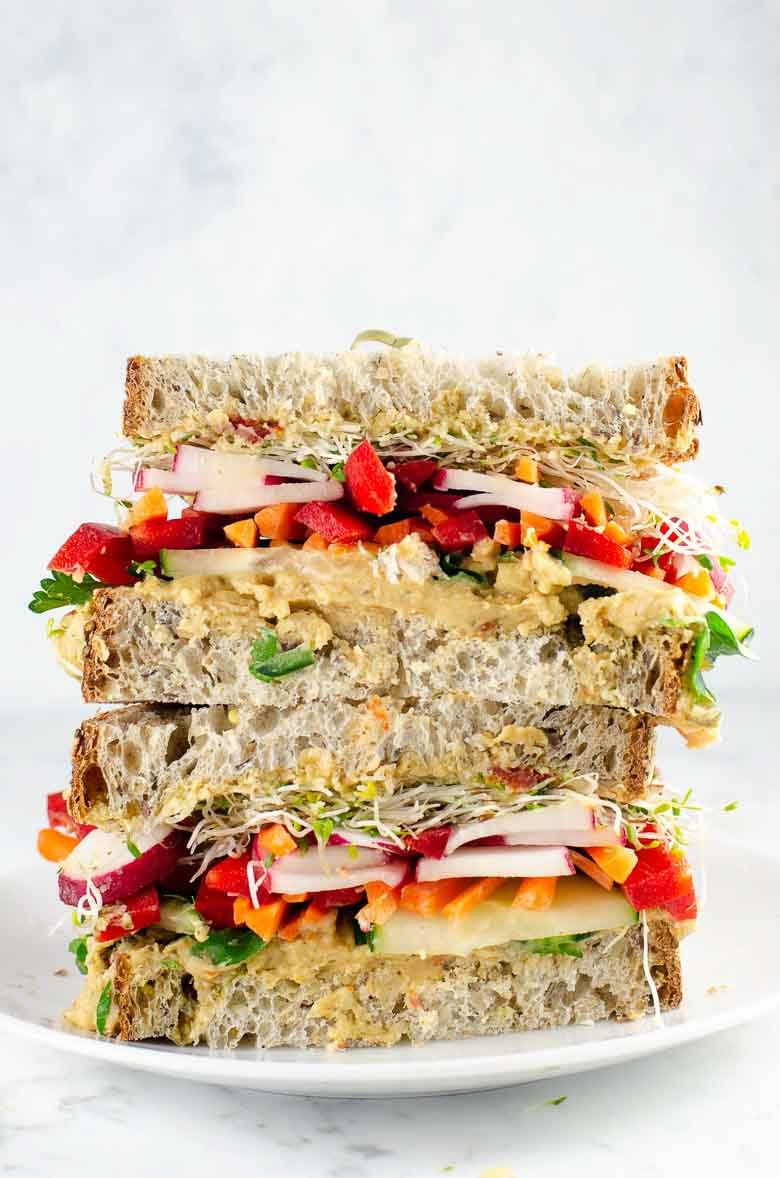 Epic Veggie Sandwich with White Bean Spread 780 | Umami Girl-2