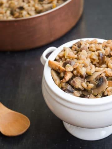 Farro with Leeks, Mushrooms, and Chestnuts 780 | Umami Girl