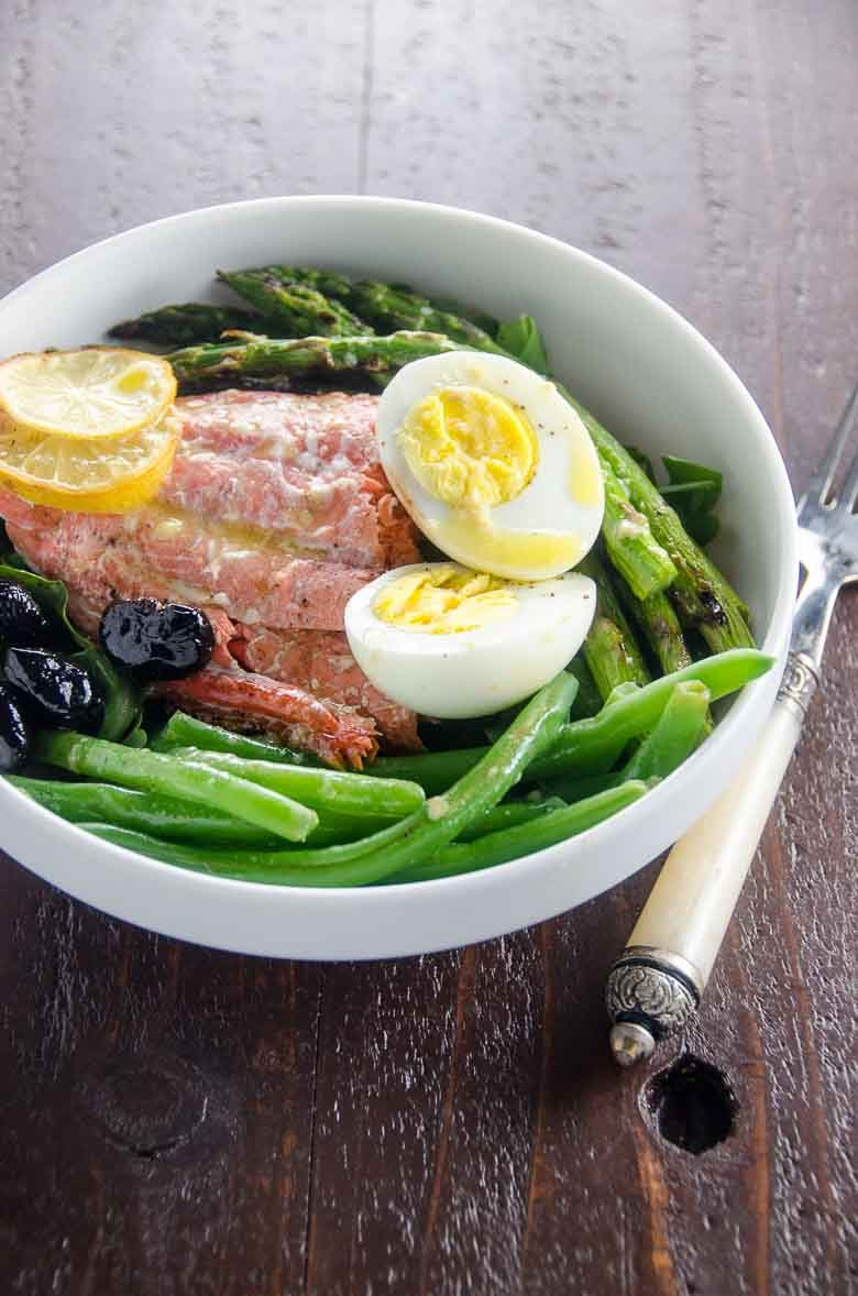 Grilled Salmon Nicoise Salad Umami Girl