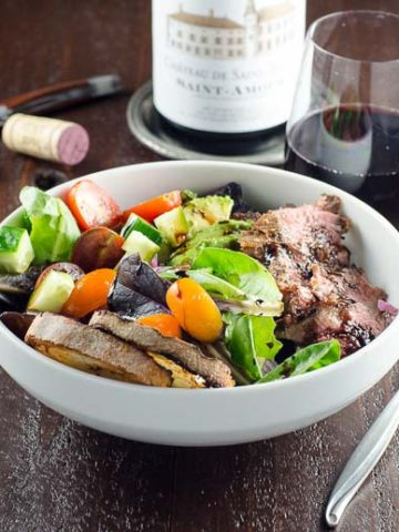 Grilled Skirt Steak Salad and Beaujolais 780 | Umami Girl-2