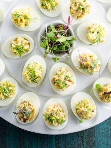 Herbed Deviled Eggs Recipe 780   Umami Girl-2