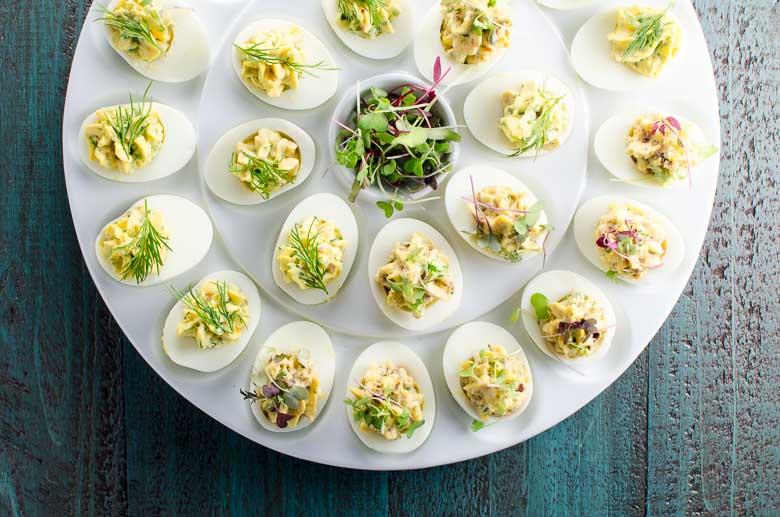Herbed Deviled Eggs Recipe 780 | Umami Girl-2