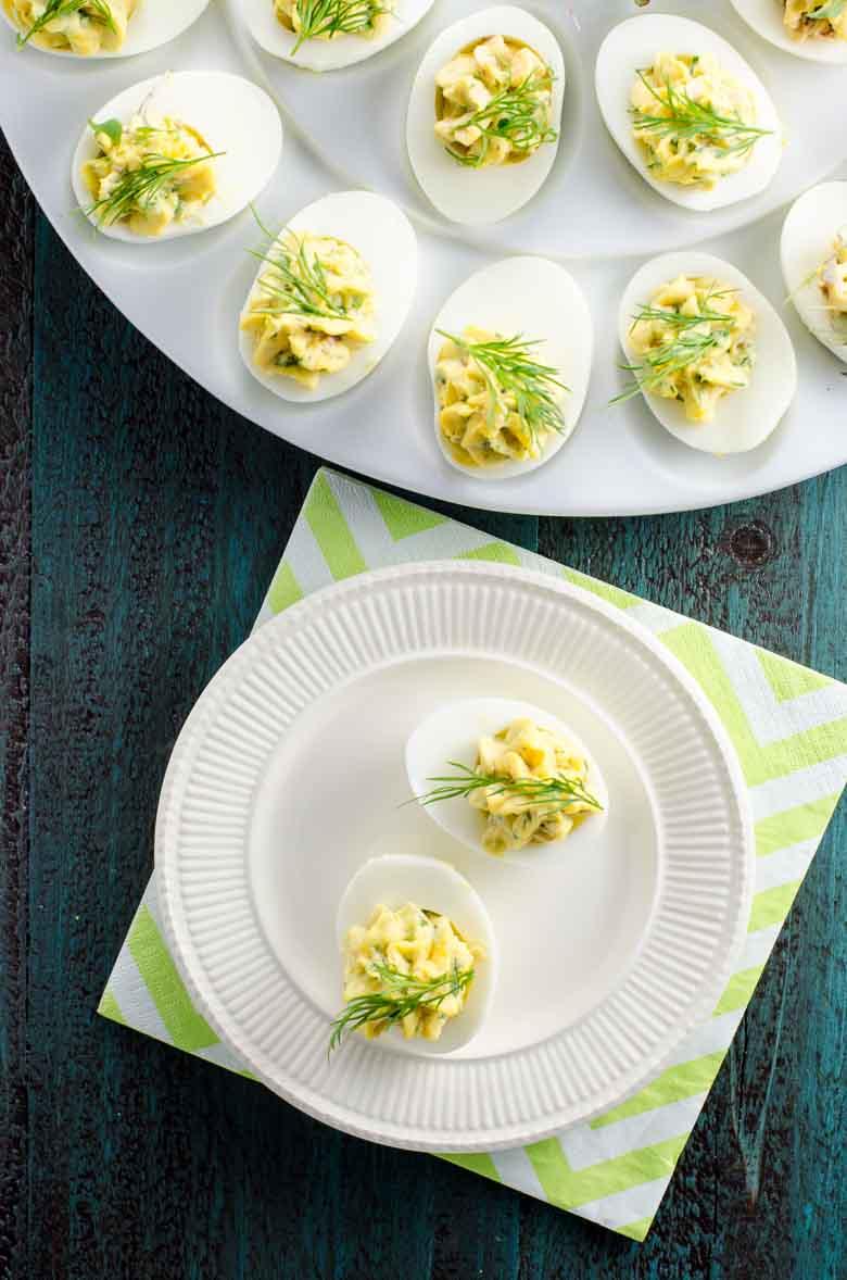 Herbed Deviled Eggs Recipe 780 | Umami Girl-3