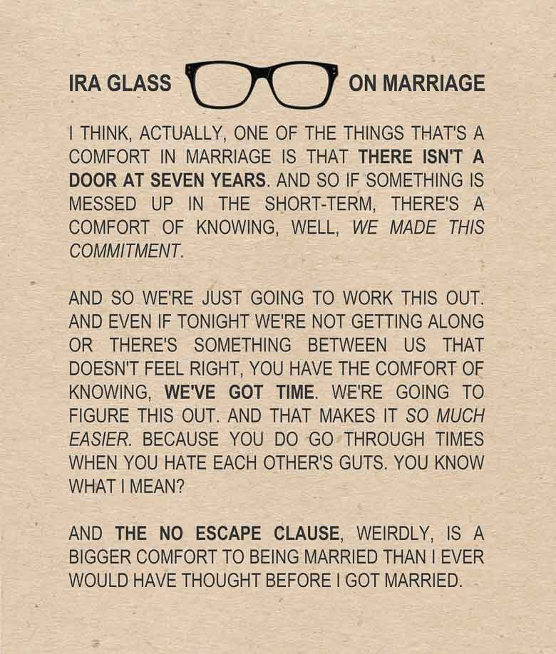 Ira Glass on Marriage 780 | Umami Girl