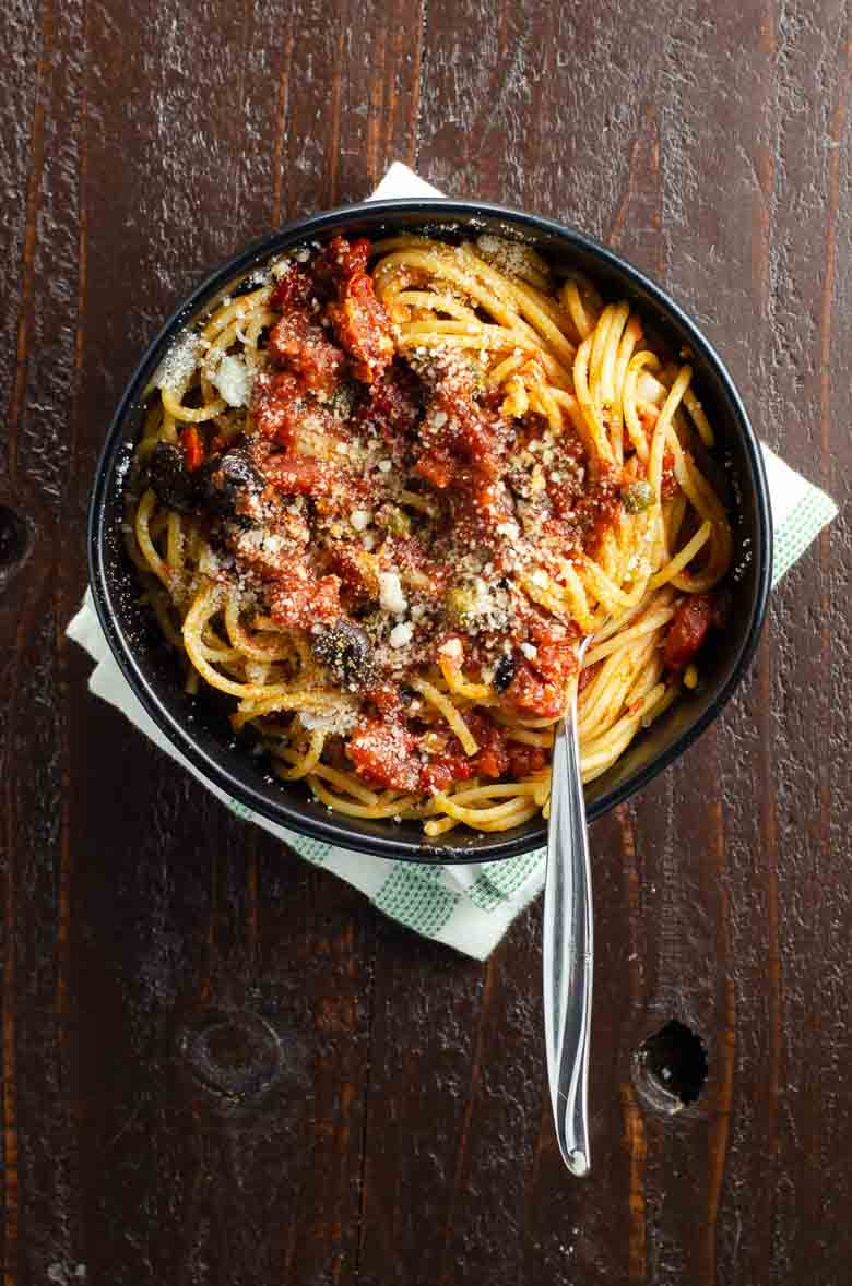 Pasta Puttanesca Recipe 780 | Umami Girl-3