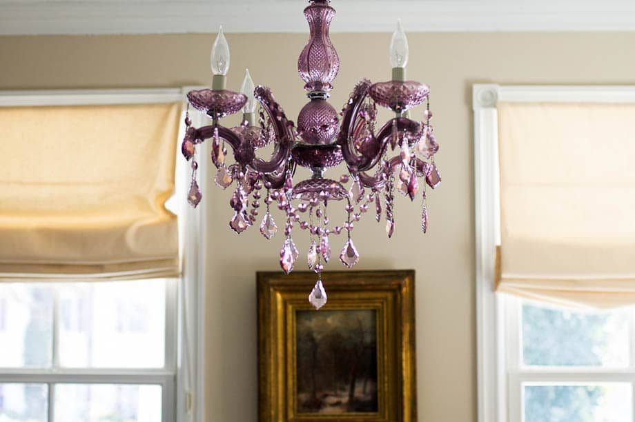 Purple Chandelier 503 River Road Fair Haven | Umami Girl