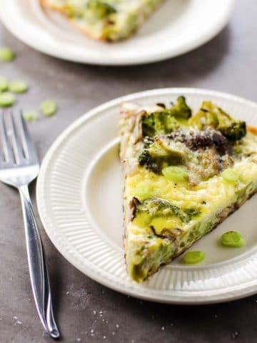 Savory Broccoli Frittata with Shiitakes 780 | Umami Girl
