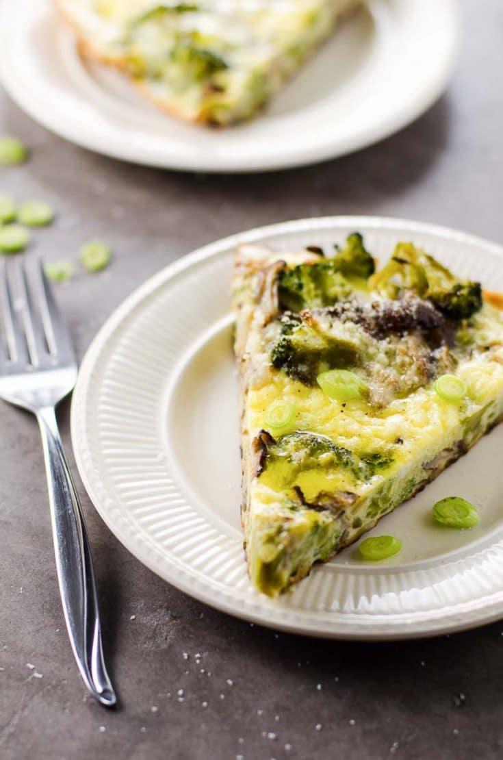 Savory Broccoli Frittata with Shiitake Mushrooms