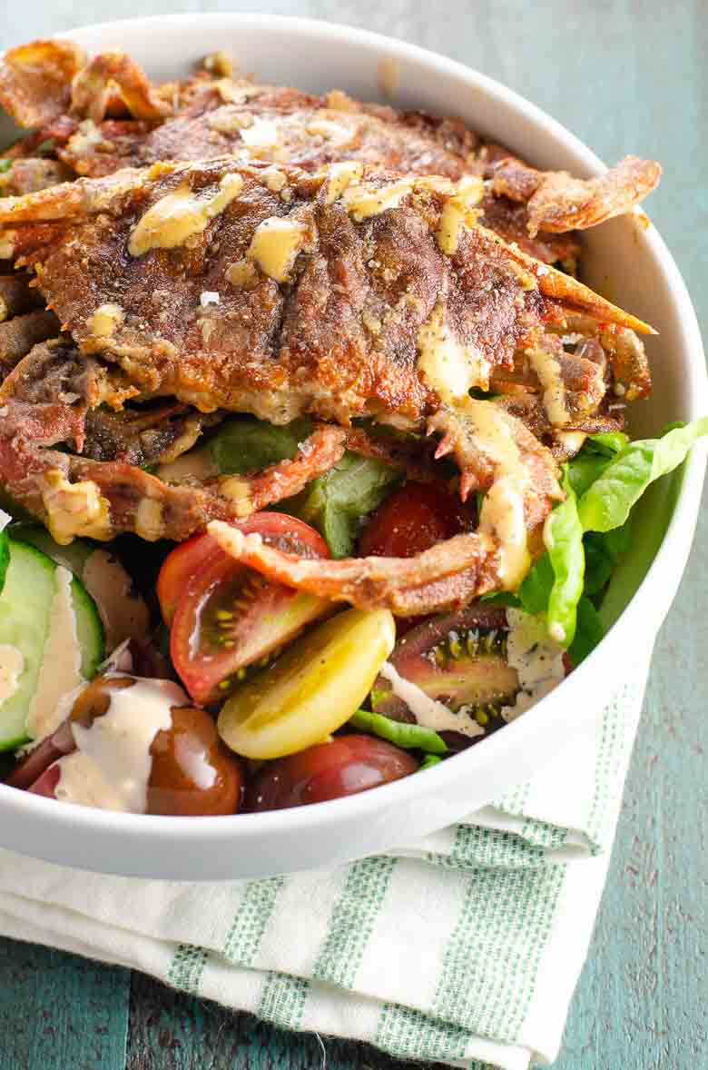 Soft Shell Crab Recipe with Salad and Spicy Sauce 780 | Umami Girl-2
