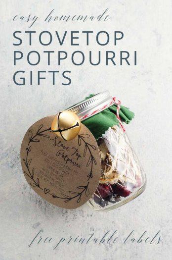 Stovetop Potpourri in Jelly Jars Homemade Gift _ Umami Girl PIN